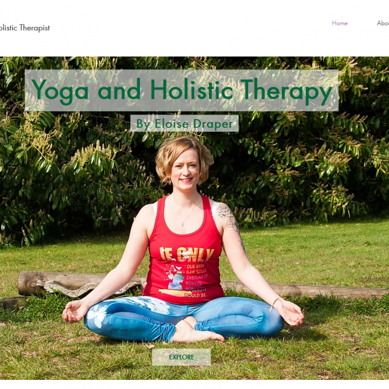 Website build for Yoga & Holistic Therapy 4 U