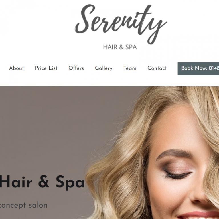 Website build for Serenity Hair Warsash