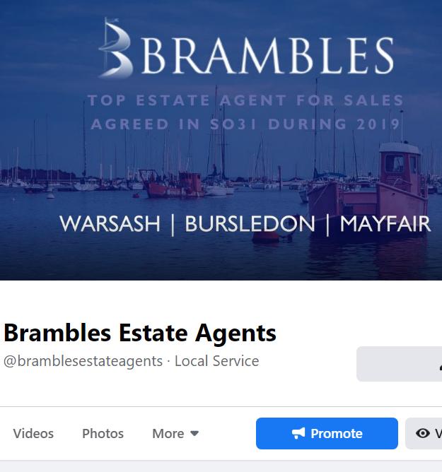 Social media management for Brambles Estate Agents