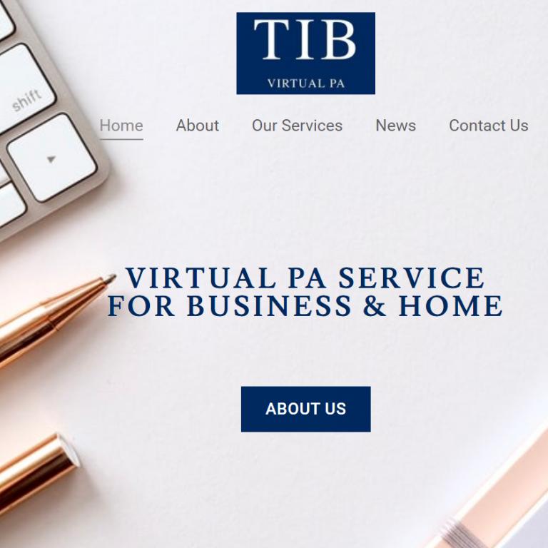 Website build www.tibvirtualpa.co.uk